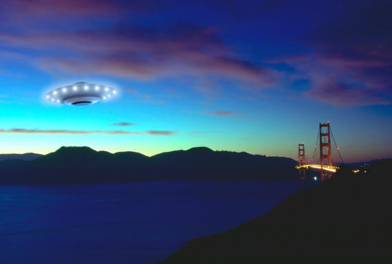 Flying Saucer near the Golden Gate Bridge