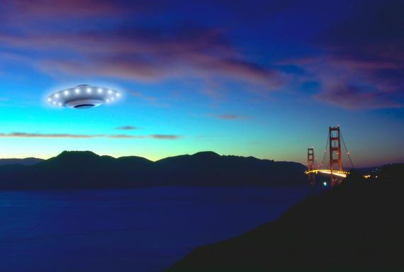 Flying Saucer near the Golden Gate Bridge