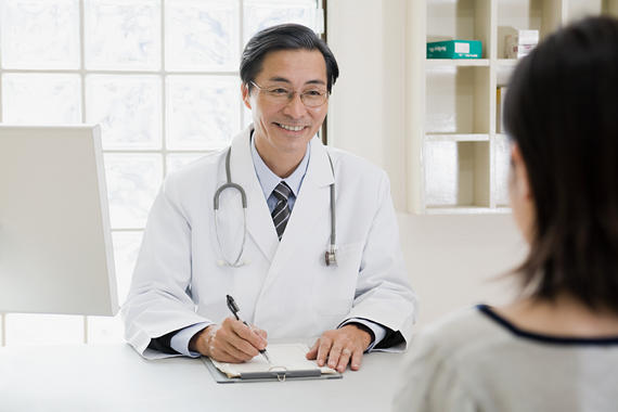 Talking about feelings and health - Doctor and patient