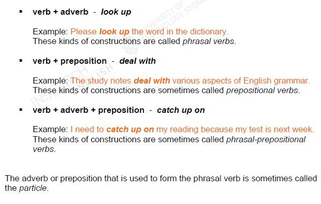 IELTS Phrasal Verbs